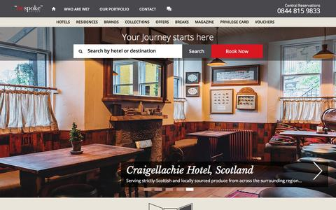 Screenshot of Home Page bespokehotels.com - Boutique Hotels - Family, Spa, Business, Hip and Luxurious Hotels - Hotel Offers - captured Sept. 18, 2019