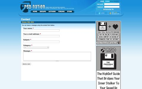 Screenshot of Contact Page rsdnation.com - Contact | RSD Nation - captured Oct. 26, 2014