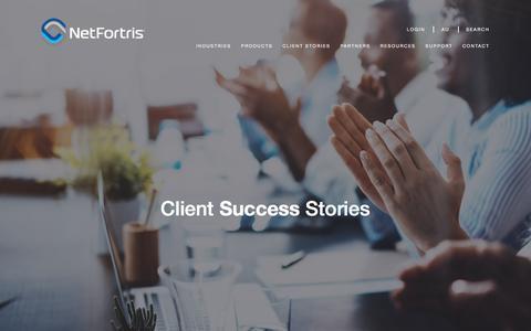 Screenshot of Testimonials Page netfortris.com captured July 20, 2017