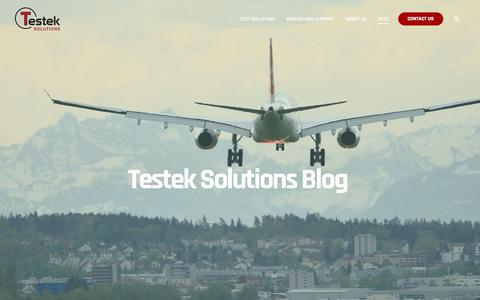 Screenshot of Blog testek.com - Testek Solutions Blog - captured Jan. 20, 2020