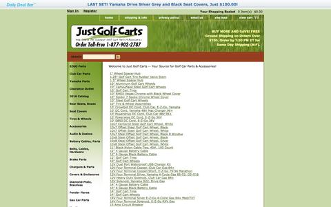 Screenshot of Site Map Page justgolfcarts.com - Discount Golf Cart Parts - captured Aug. 8, 2016