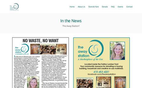 Screenshot of Press Page theawaystation.org - The Away Station - captured Feb. 3, 2018