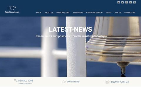 Screenshot of Press Page flagshipmgt.com - News - Maritime Recruiter - Flagship Management - captured Feb. 10, 2016