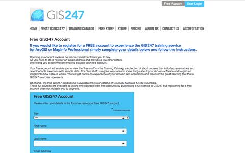 Screenshot of Trial Page gis247.com - GIS247 - captured Sept. 26, 2014