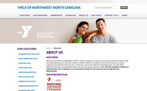 Screenshot of About Page ymcanwnc.org - About Us «  YMCA of Northwest North Carolina - captured Sept. 25, 2014