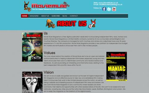 Screenshot of About Page moviemule.co.uk - About Us - captured Oct. 26, 2014