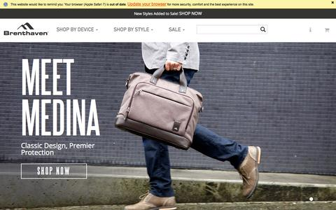 Screenshot of Home Page brenthaven.com - MacBook Cases with Maximum Protection, Guaranteed | Brenthaven - captured Oct. 1, 2015