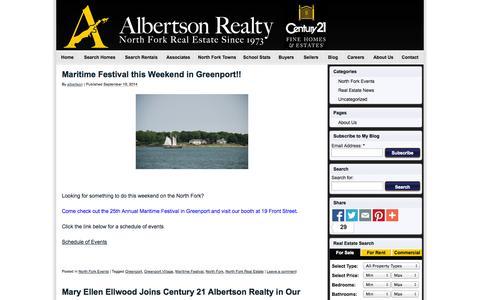 Screenshot of Blog albertsonrealty.com - CENTURY21 Albertson - captured Oct. 2, 2014