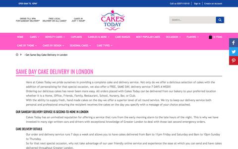 Screenshot of About Page cakestoday.co.uk - Cakes Today Same day delivery - captured Sept. 22, 2018