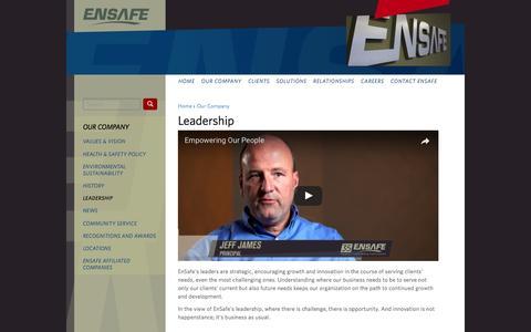 Screenshot of Team Page ensafe.com - Leadership | EnSafe - captured May 19, 2017