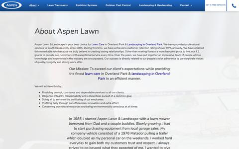 Screenshot of About Page aspenlawn.com - About Aspen Lawn - Aspen Lawn - captured Oct. 9, 2017