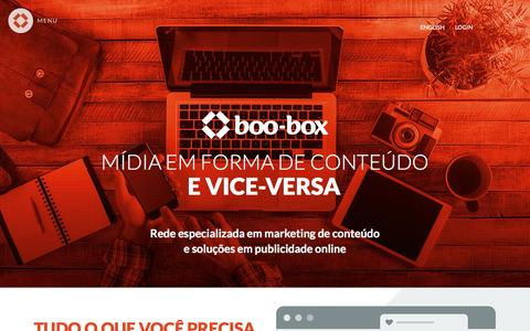 Screenshot of Home Page boobox.com.br - boo-box - Anuncie na internet - captured Jan. 20, 2016