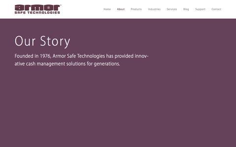 Screenshot of Testimonials Page armorsafe.com - About — Armor Safe Technologies - captured Oct. 8, 2014