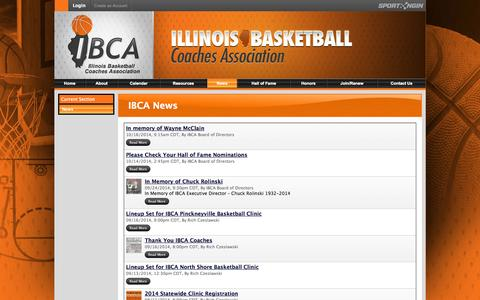 Screenshot of Press Page ibcaillinois.org - IBCA News - captured Nov. 3, 2014