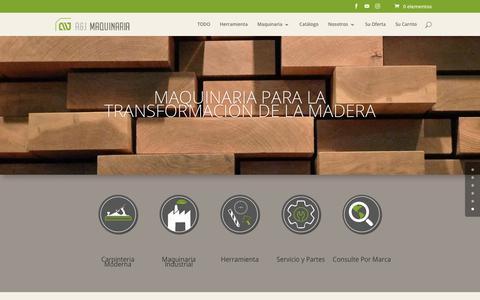 Screenshot of Home Page ayj.com.co - Inicio   A&J Maquinaria - captured Oct. 4, 2018