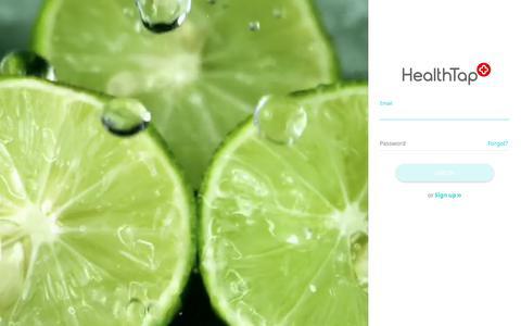 Screenshot of Login Page healthtap.com - HealthTap - captured July 28, 2018
