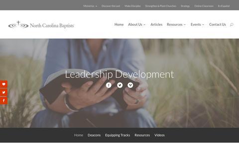 Screenshot of Team Page ncbaptist.org - leadership | Baptist State Convention of North Carolina - captured Nov. 13, 2018