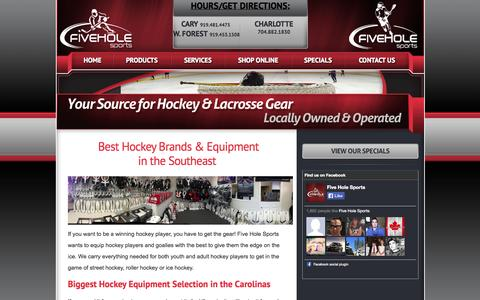 Screenshot of Products Page fiveholesports.com - Raleigh & Charlotte Hockey Equipment & Goalie Gear | Five Hole Sports - captured Sept. 30, 2014