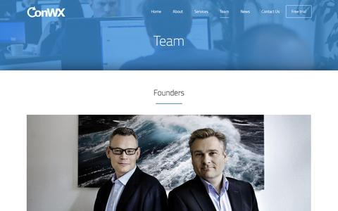 Screenshot of Team Page conwx.com - Team - ConWX - captured July 15, 2016