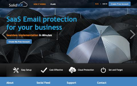 Screenshot of Blog solidmx.com - FREE Spam Filtering Service - Free Email Protection & Backup by SolidMX.com | FREE Email Filtering Service - captured Oct. 1, 2014