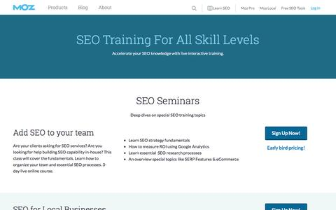 SEO Training from Moz | Moz
