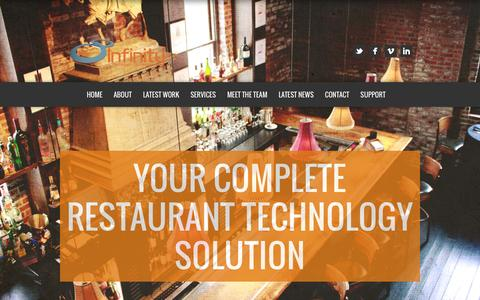 Screenshot of Home Page infinityrt.com - Infinity Restaurant Technology | - captured Feb. 10, 2016