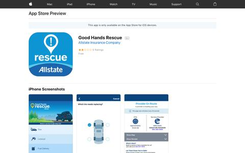 Good Hands Rescue on the AppStore