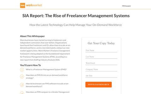 Screenshot of Landing Page workmarket.com - The Rise of Freelance Management System - WorkMarket - captured April 13, 2018