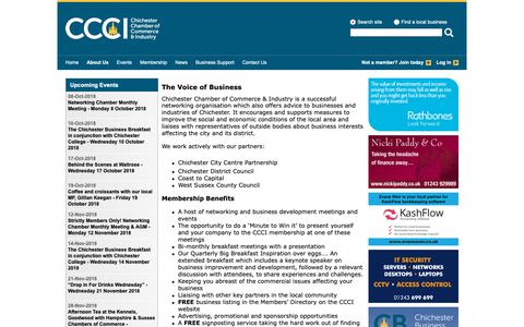 Screenshot of About Page chichestercci.org.uk - About Chichester Chamber of Commerce - captured Sept. 27, 2018