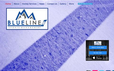 Screenshot of Home Page blueline-sports.com - Blue Line Sports Management, LLC - Hockey Agency & Family Advisors - captured Oct. 10, 2017