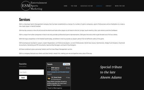 Screenshot of Services Page esmagency.com - Services   ESM Agency - captured Sept. 26, 2014