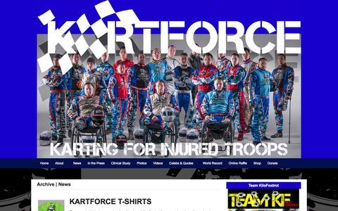 Screenshot of Press Page kartforce.org - News   KartForce - captured Sept. 30, 2014