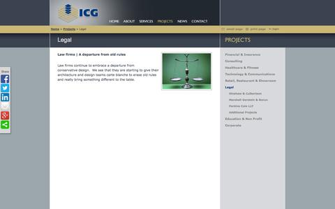 Screenshot of Terms Page icgconstruction.com - Legal - captured Oct. 27, 2014
