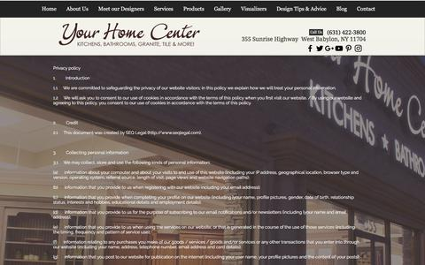 Screenshot of Privacy Page yourhomecenter.net - Privacy | Your Home Center - captured July 26, 2018