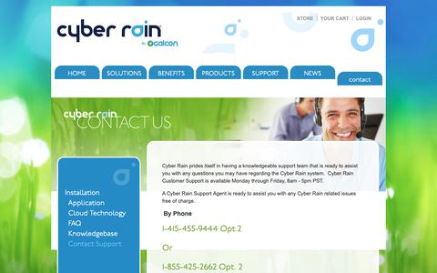 Screenshot of Contact Page cyber-rain.com - Cyber Rain Remote Irrigation Controller, Smart Irrigation Solutions, Internet Based Irrigation ‎Controller - captured Nov. 4, 2018