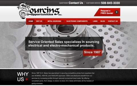 Screenshot of Home Page sourcing-opps.com - Sourcing Opportunities - ISO Certified Offshore Supply Management - captured Jan. 21, 2017