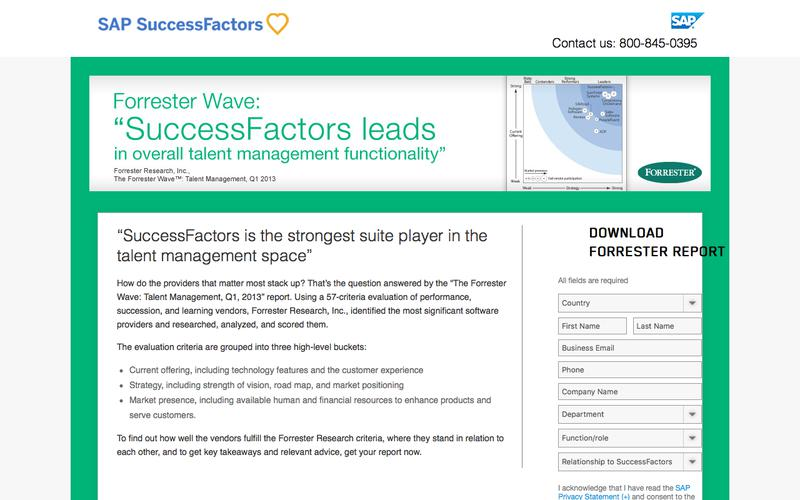 Forrester Wave Talent Management             | SuccessFactors