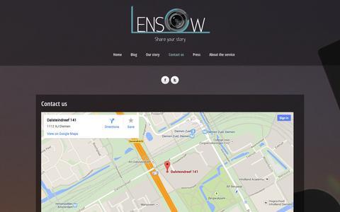 Screenshot of Contact Page lensow.com - Contact us   Lensow - captured Sept. 29, 2014