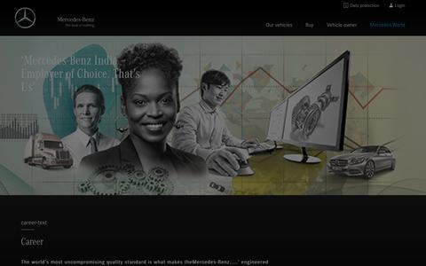 Screenshot of Jobs Page mercedes-benz.co.in - Career - captured Oct. 17, 2018