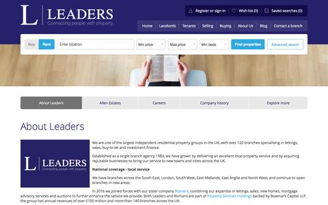 Screenshot of About Page leaders.co.uk - About Leaders - Lettings and Estate Agency - captured July 24, 2016