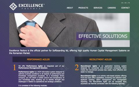 Screenshot of Products Page excellence-factors.com - Excellence Factors - captured Sept. 30, 2014