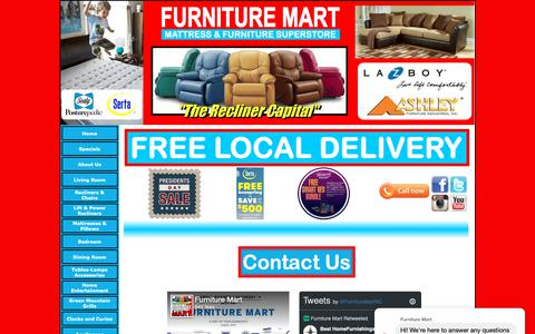 Screenshot of Contact Page furnituremartofroxboro.com - Furniture Mart of Roxboro - Contact Page - Roxboro, NC - captured Feb. 14, 2019