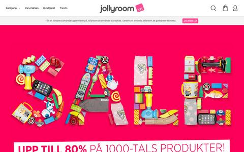 Screenshot of Home Page jollyroom.se - Jollyroom.se | Din barn- och babybutik pŒ nŠtet! - captured Jan. 9, 2016