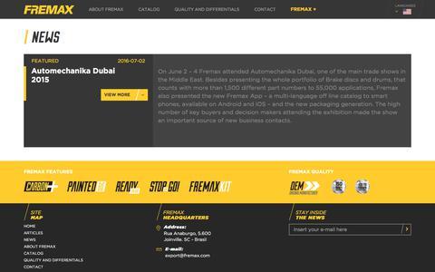 Screenshot of Press Page fremax.com - Fremax - captured Oct. 14, 2017