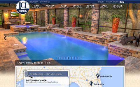 Screenshot of Home Page icihomes.com - ICI Homes - Florida's Custom Home Builder - captured Dec. 18, 2015
