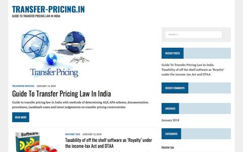 Screenshot of Home Page transfer-pricing.in - transfer-pricing.in – Guide To Transfer Pricing Law In India - captured Feb. 11, 2018