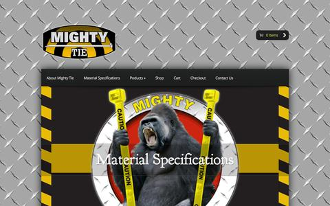 Screenshot of Home Page mightynow.com - Mighty Ties - Just another WordPress site - captured Jan. 26, 2015