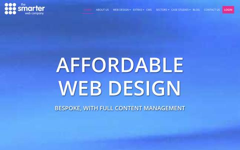 Screenshot of Home Page Case Studies Page Login Page smarterwebcompany.co.uk - Affordable, bespoke web design with full CMS and a UK based web design team. - captured Sept. 25, 2014