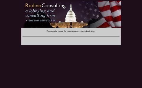 Screenshot of Home Page rodinoconsulting.com - Rodino Consulting LLC - A Lobbying and Consulting Firm - captured Nov. 4, 2017