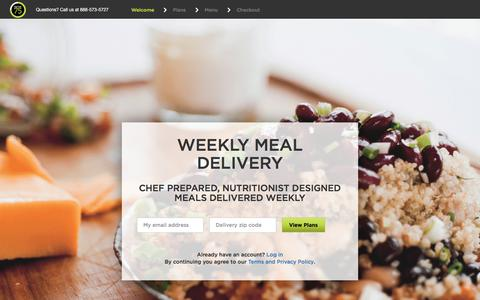 Screenshot of Signup Page factor75.com - Weekly Meal Delivery Service, Healthy, Fresh, Organic, Fully-Prepared - captured Aug. 12, 2018